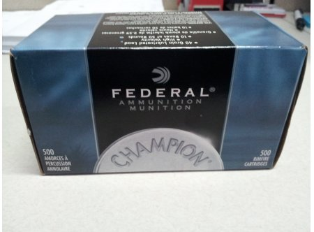 federal champion 22lr 40gr solid high velocity 500rds canada ammo